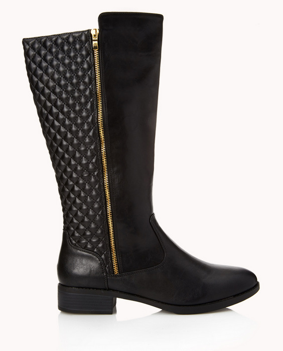 Holiday Gift Ideas for COllege Students on The Curvy Fashionista- Forever 21 quilted boot