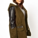 Holiday Gift Ideas for COllege Students on The CUrvy Fashionista-asos curve military leather jacket