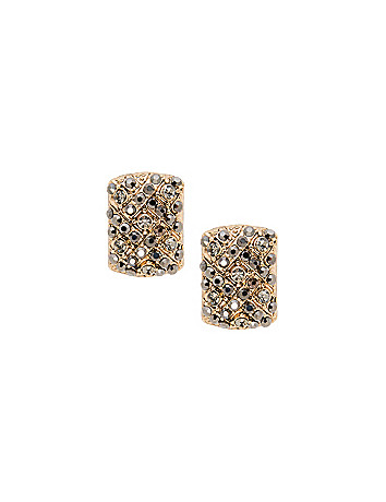 Rectangular Stone Post Earrings by Lane Bryant on the Curvy Fashionista