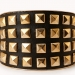 Rock N' Roll Faux Leather Cuff from Forever 21 on the Curvy Fashionista
