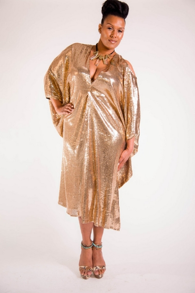 Plus Size Designer Shanda Freeman  the-gold-sequins-caftan