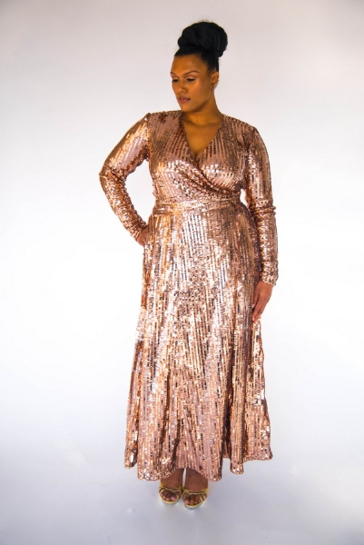 Plus Size Designer Shanda Freeman the-gold-sequins-dress