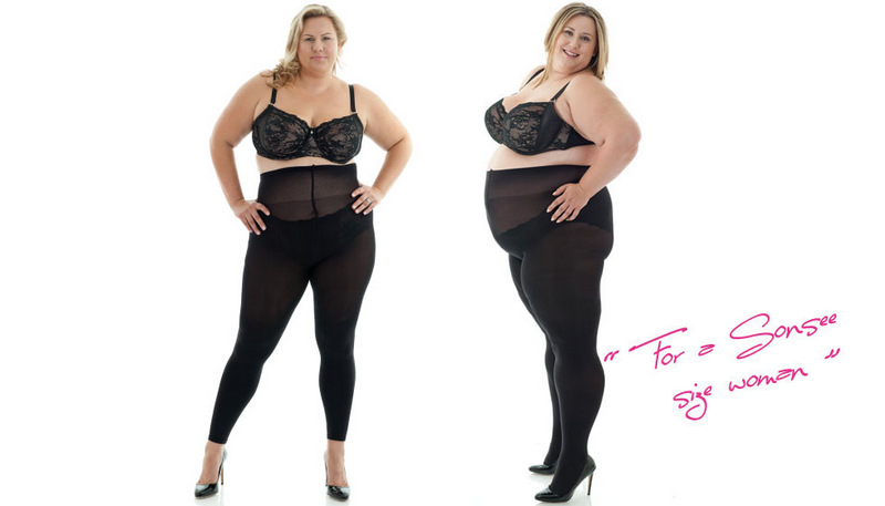 Sonsee Woman- A New Plus Size Tights Player In Town on The Curvy Fashionista