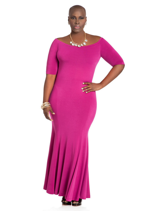 Ashley Stewart MERMAID MAXI DRESS
