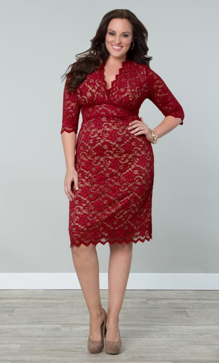 Kiyonna Boudoir Lace Dress