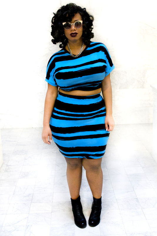 Plus size designer- Zelie for She forever-young-striped-skirt-set
