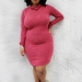 Plus size designer- Zelie for She forever-young-turtleneck-dress