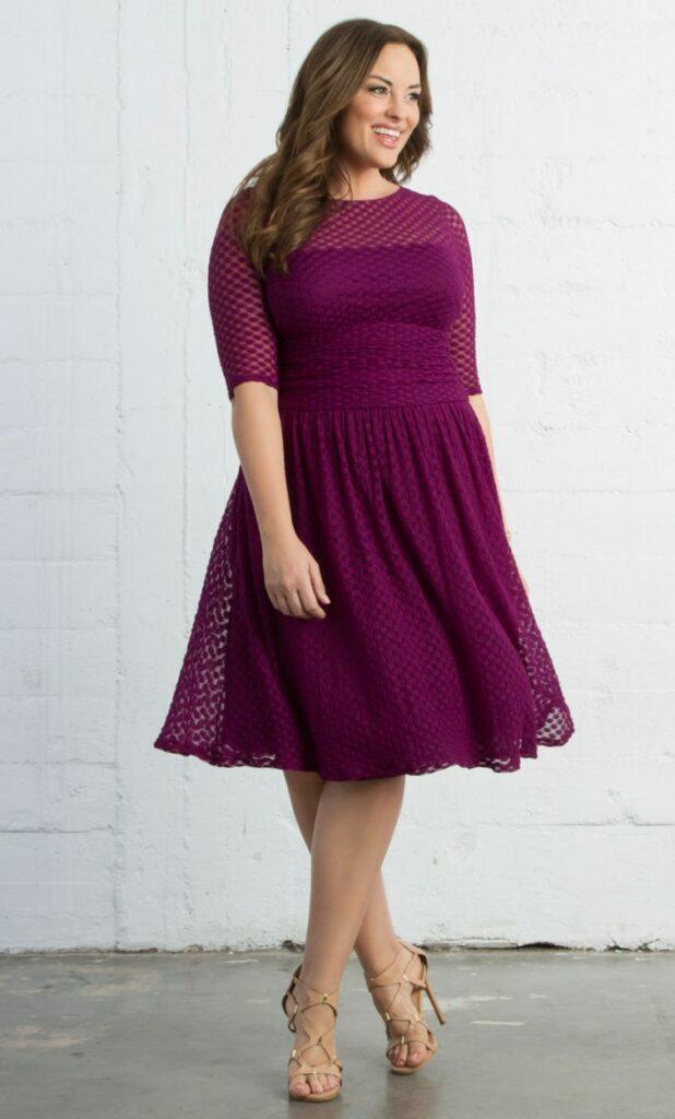 83194be7998 Kiyonna Plus Size Alexa Retro Dot Dress