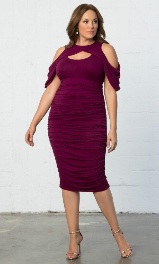 Kiyonna Plus Size Bianca Ruched Dress