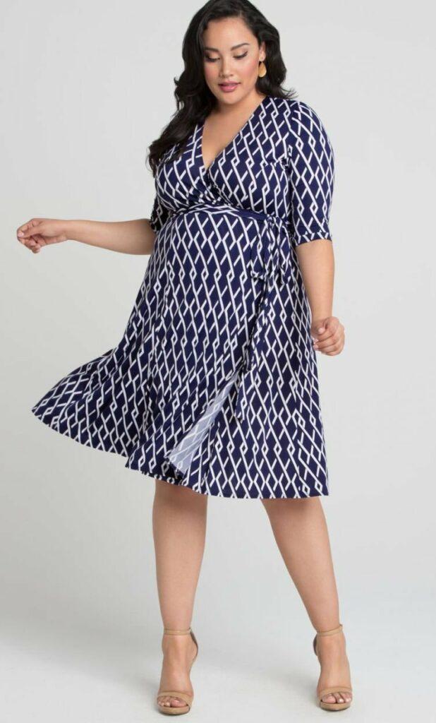 Kiyonna Plus Size Essential Wrap Dress