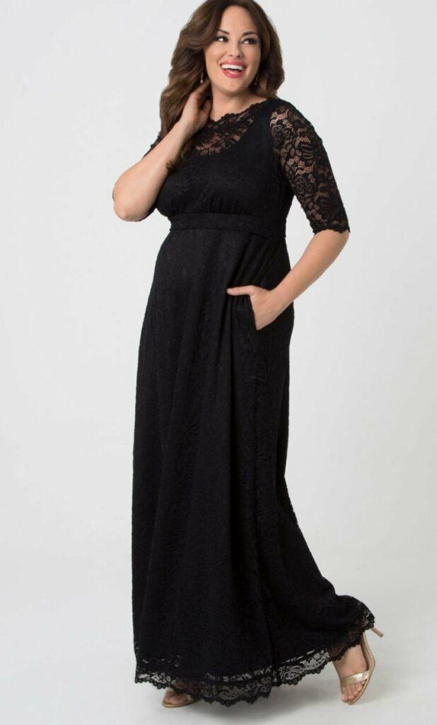 Kiyonna Plus Size Leona Lace Gown