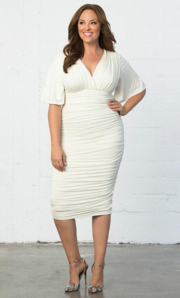 Kiyonna Plus Size Rumor Ruched Dress