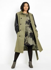 A Plus- Size Woman's Guide for Shopping- Tantalizing Trench Coat