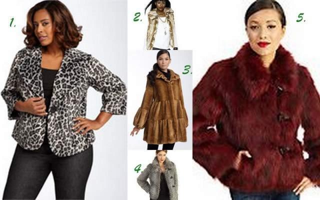 Foxy Faux Fur Full Figured Finds