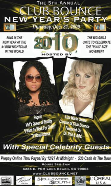 Club Bounce Presents A Plus Size New Year's Eve  Bash