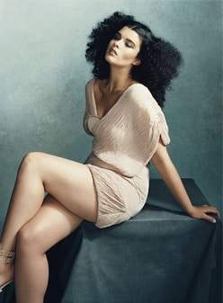 Plus size model Crystal Renn Fashions a Glamour Spread