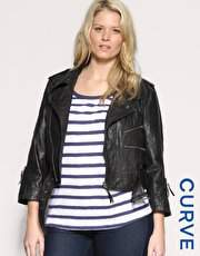 Asos Curve Leather Jacket