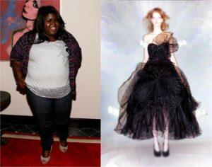Gabby Sidibe and Marchesa-Vogue Curvy