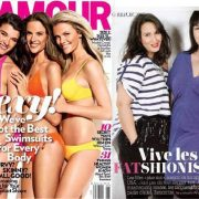 US Glamour Size Issue and French Glamour Size Issue Covers