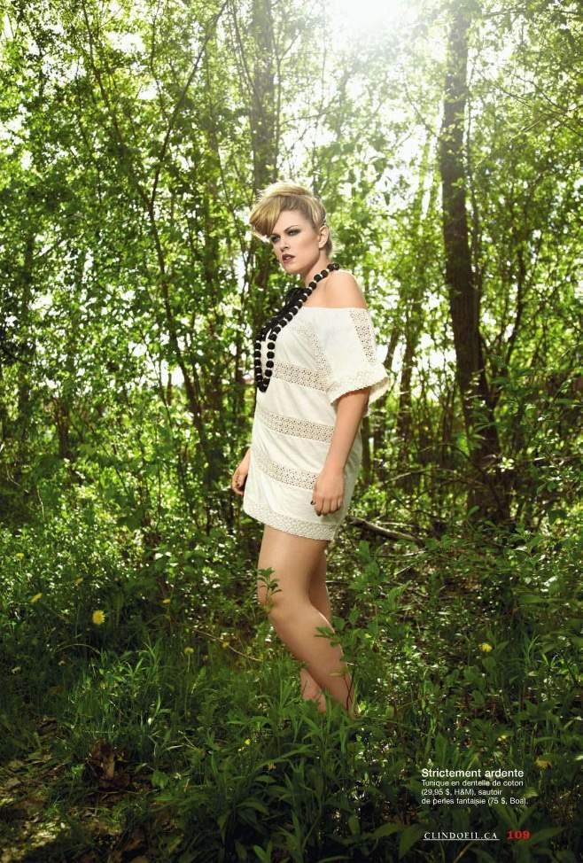 Plus Size Model Justine Legault in July Clin d'Oeil