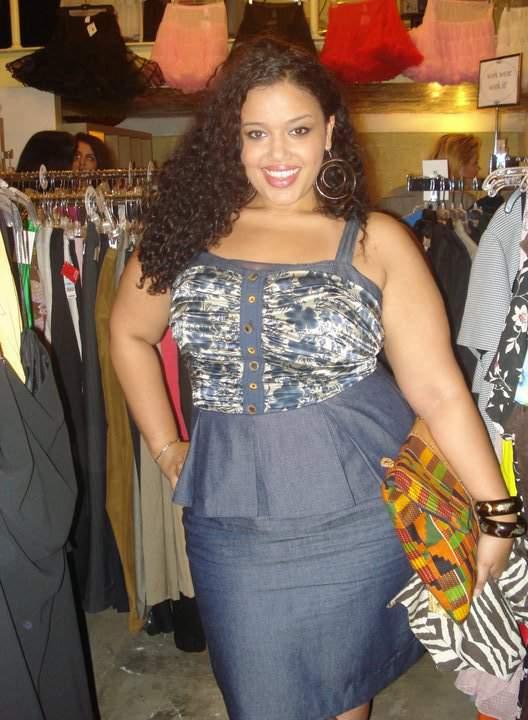 Plus Size Model Allie McG wearing SKWilbur
