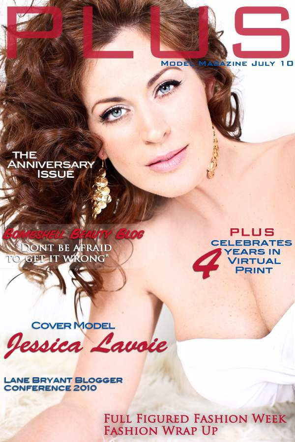 July Cover of Plus Model Magazine