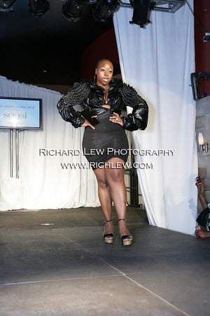 San Francisco Designer Chan.nel Karama debuts for Full Figured Fashion Week Opening Night