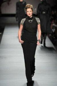 Plus size designer Elena Miro Fall 2010