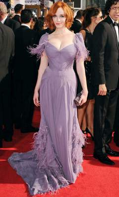 Christina Hendricks is Lovely in Lilac at the 2010 Emmy's