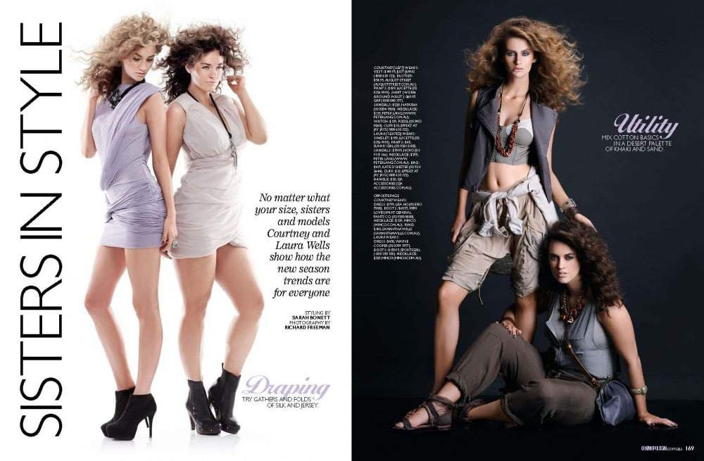 Plus Model Laura Wells in the Australian Cosmo September Issue