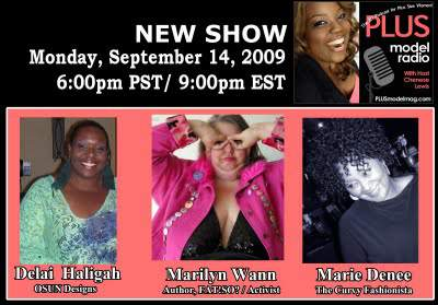 I am going to be on Plus Model Radio