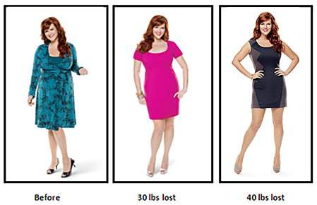 Sara Rue Weight loss via Jenny Craig