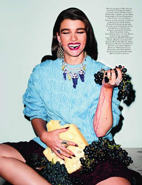 Festin- Crystal Renn in Vogue France by Carine Roitfeld and Terry Richardson