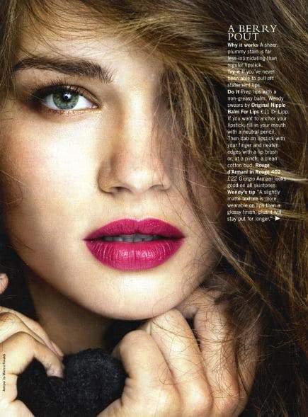Tara Lynn Beauty Editorial for Glamour UK