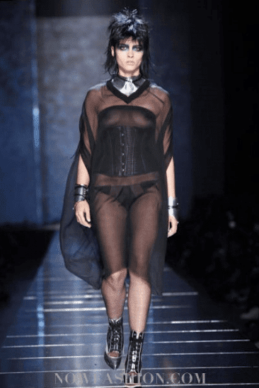 Crystal Renn for Jean Paul Gaultier S/S 2011