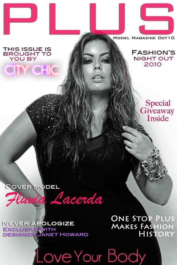 Fluvia Lacerda on the cover of PLUS mode Magazine