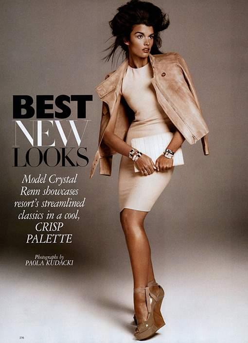 Crystal Renn in December Harper's Bazaar