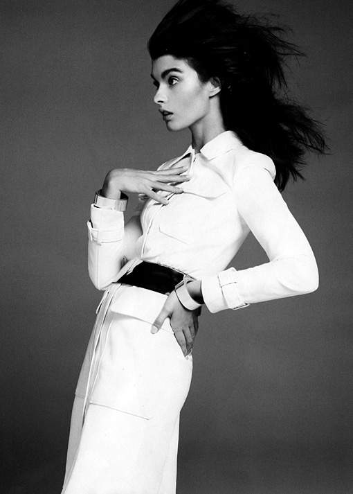 Crystal Renn in December Harper's Bazaar