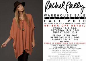 Rachel Pally Fall 2010 Sample Sale