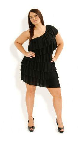 City Chic Tier Pleated Dress