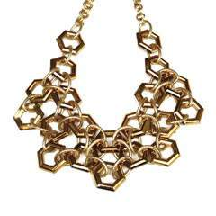 RichRocks Gold Lucite Linked Necklace