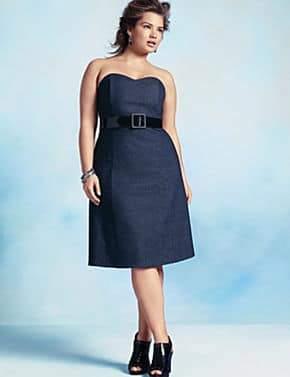 Strapless Denim Dress by Lane Bryant