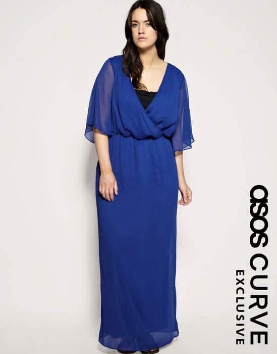 ASOS Curve Blue Maxi