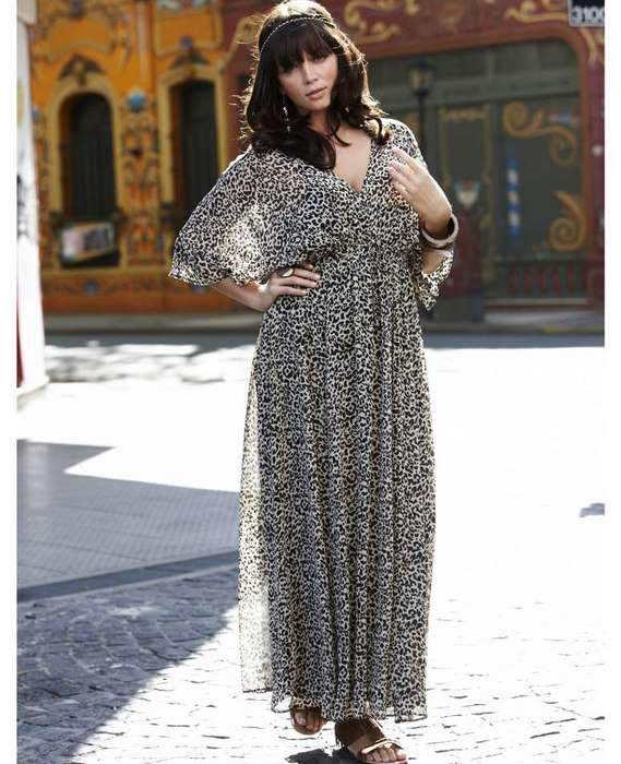 Simply Be Angel Ribbons Leopard Maxi
