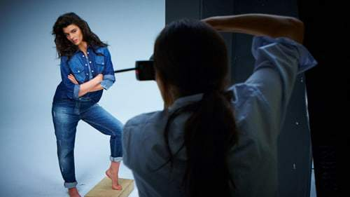Crystal Renn for Marina Rinaldi Denim Collection