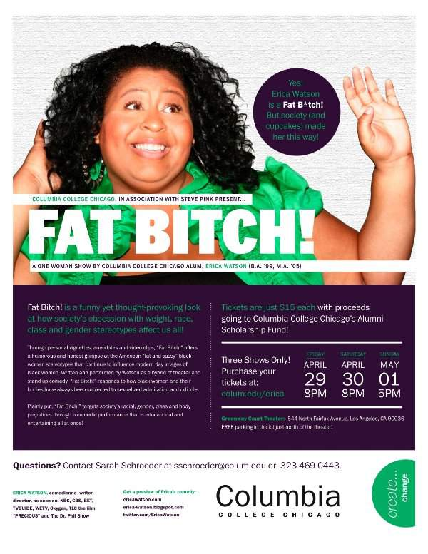 "Erica Watson ""Fat Bitch"" Los Angeles Tour"