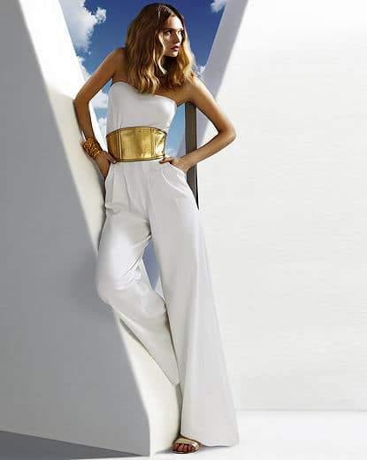 White Ponte Jumpsuit from Spiegel