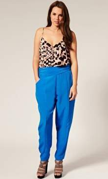 Asos Curve Pleat Front Harem Pants
