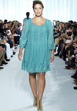 OSP Aquatic Lace Dress by Ashley Graham
