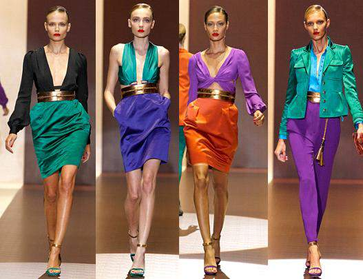 gucci spring 2011 colorblocking trend
